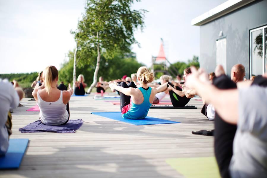 yoga på söderpiren
